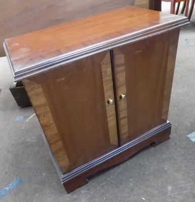 Dark wood entertainment unit