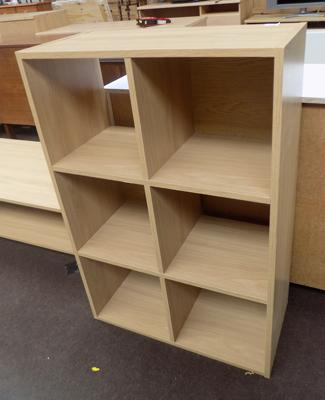 6 cube oak effect unit