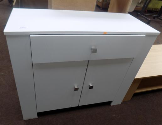 White 1 drawer 2 door sideboard