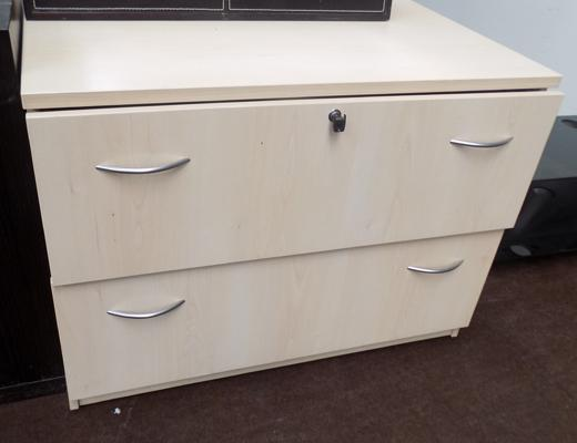 Large two drawer unit with lockable drawers for files