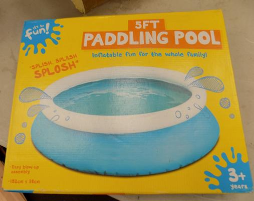 Brand new 5ft paddling pool