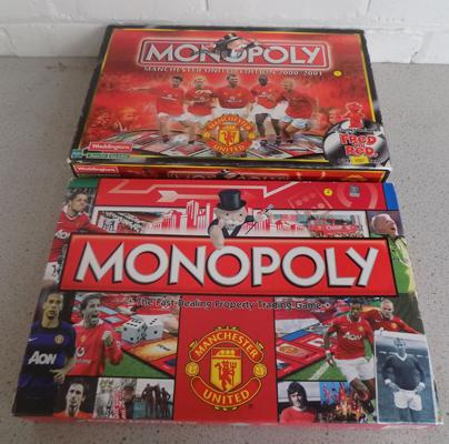 Two x Old Monopoly games, Manchester Utd. (both complete), playing tokens in office