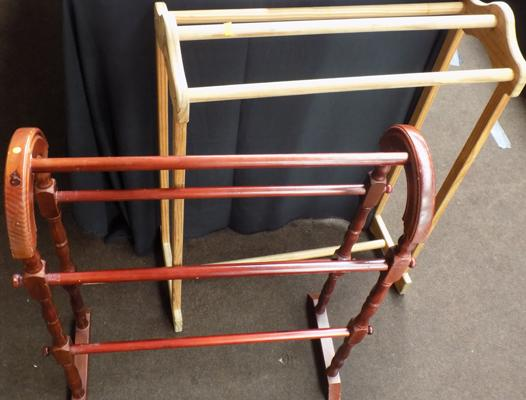 x2 vintage towel rails