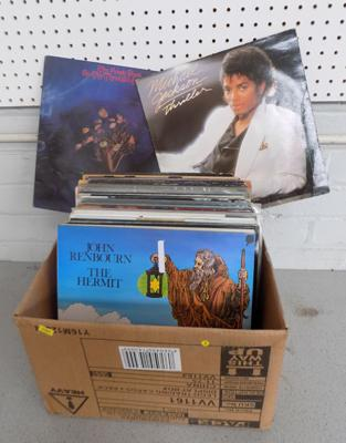 Vinyl records - Cohen, Wings, Jackson, U2, Moody Blues, Renbourn