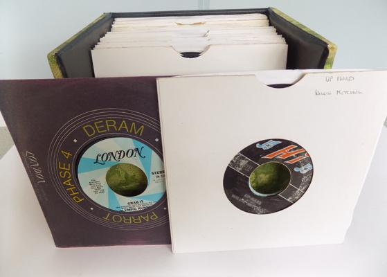"Box of Northern Soul 7"" single records"