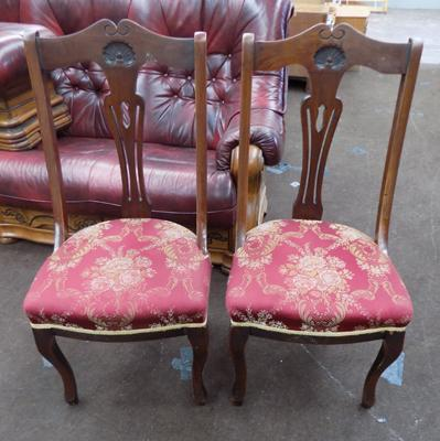 Pair of Victorian spoonback chairs