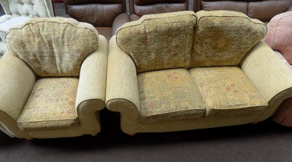 2 Seater sofa & 1 chair