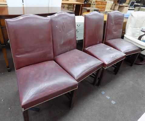 Four banqueting chairs
