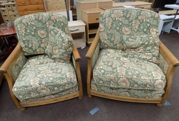 Pair of Burgee chairs by Ercol
