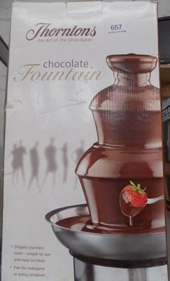 Thornton's chocolate fountain