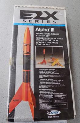 Vintage unopened USA E2X series Alpha rocket set