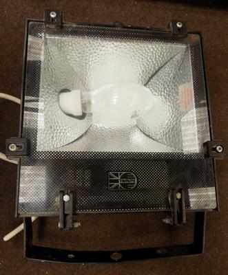 Large floodlight with photo cell switch