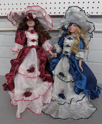 Two ceramic dolls