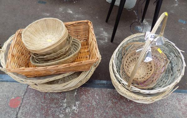 Large collection of hamper baskets
