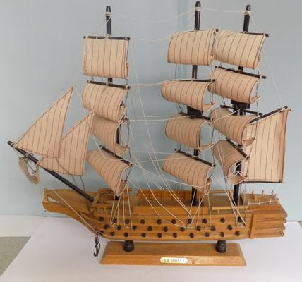 "Vintage model galleon - Victoria, 20"" in length, 23 "" high"