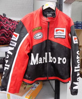 Red & black Marlboro motorcycle jacket 3XL