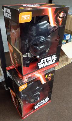 "x2 new Darth Vader 15"" talking plush in boxes"