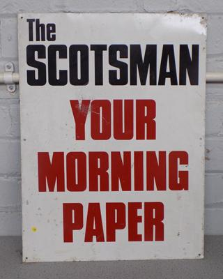 Genuine Scotsman newspaper sign
