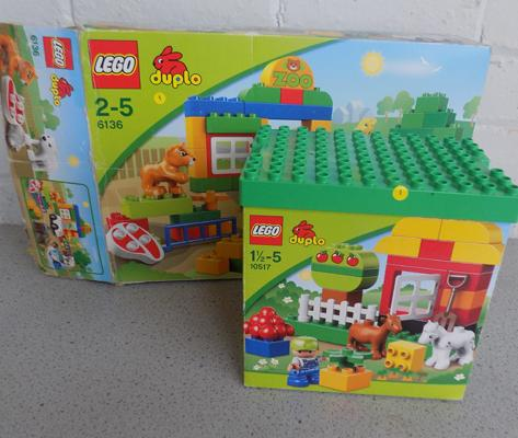 Two x Lego Duplo 6136 + 10517 Zoo + garden (both complete)