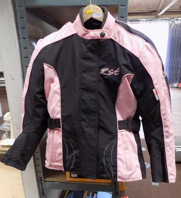 Pink & black motorcycle jacket size 10