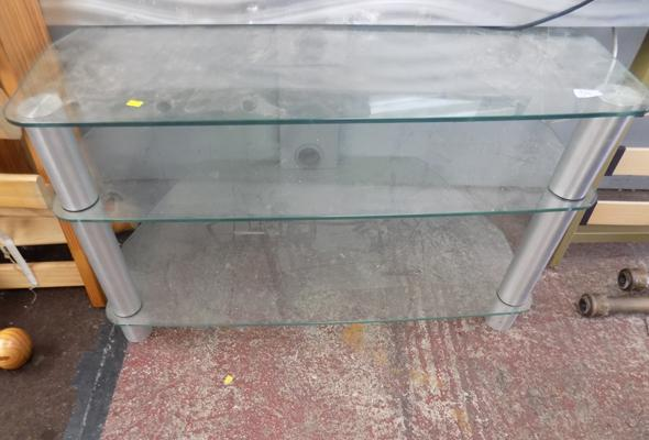 Glass TV/entertainment unit