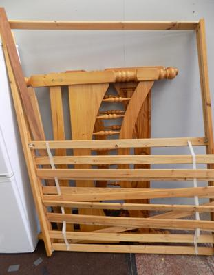 Double pine bed frame