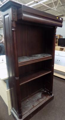 "Dark wood effect book shelf & drawer - approx. 66"" high"
