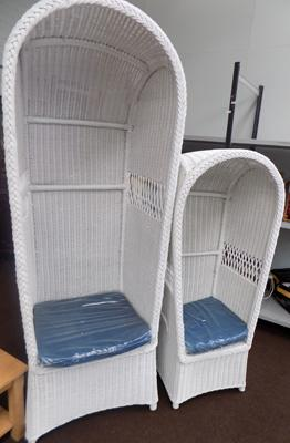 His & Hers wicker garden chairs - new/unused