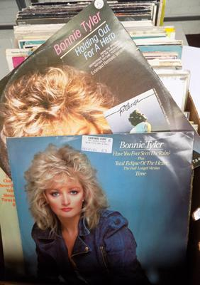 "Box of mixed LPs & 12"" incl. Bonnie Tyler"
