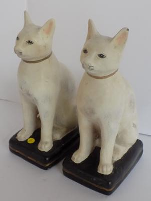 Pair of 1930's plaster cats - no damage