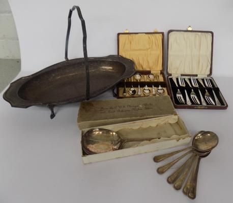 Selection of EPNS cutlery & tray
