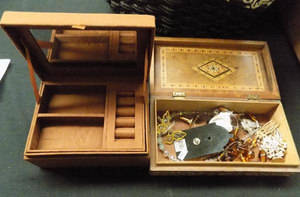 Two jewellery boxes & contents