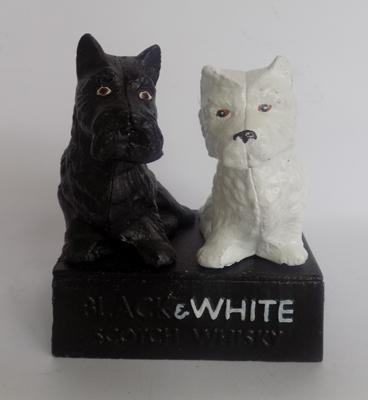 Black & White Scotch Whiskey door stop