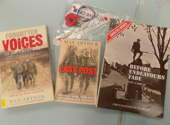 WW1 Books & British Legion poppy collectables
