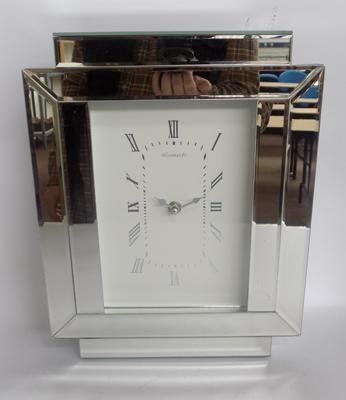 Royal Crest mirrored clock