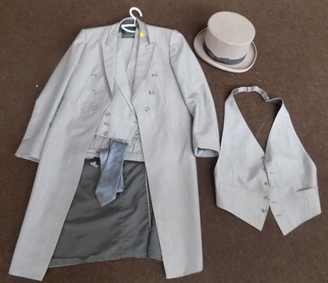 4 Piece morning suit & top hat size 40R
