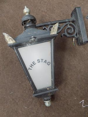 Vintage 'The Stag' wall lantern