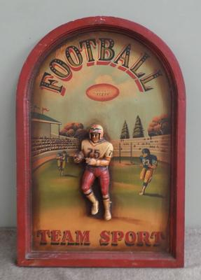 Vintage American Football wall advertisement