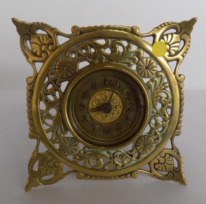 Pre 1940's brass clock - ticking