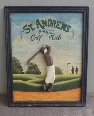 Vintage St Andrew's golf club wall advertisement