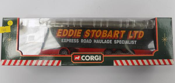 Boxed Corgi no.59503 Eddie Stobart, Scama Curtainside lorry and trailer