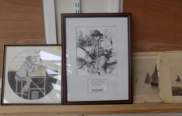 Three original pictures with numbered 'True Grit' print
