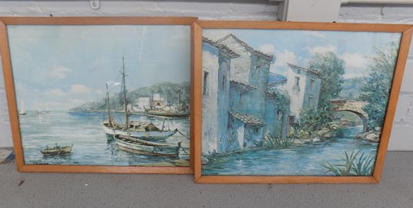 2x Vintage framed pictures by Grunwald & Cesteban