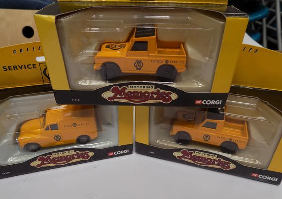 Three boxed Corgi AA boxed patrol cars