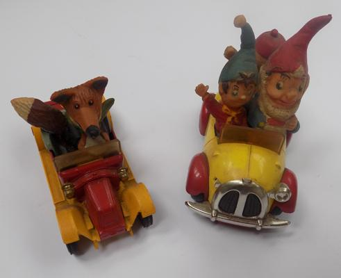 Two Corgi 1970's comic series, Noddy's & Basil Brushes cars