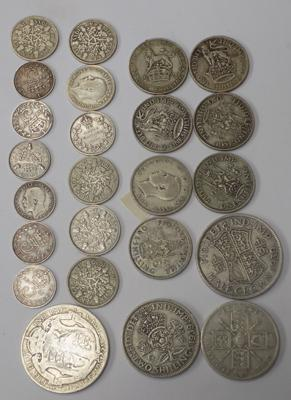 Selection of pre 1947 silver coins