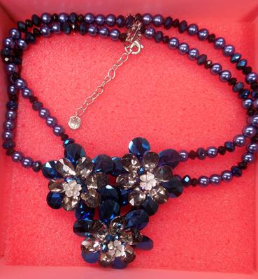 Butler & Wilson blue necklace