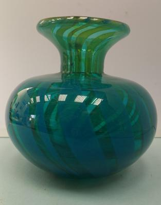 Mdina style 'Sea & sand' heavy glass vase (not signed)
