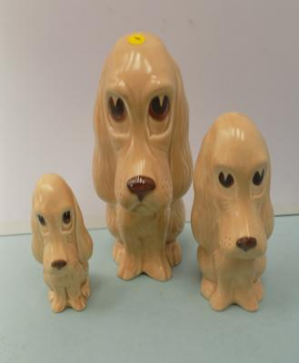 Trio of Sylvac Longface dogs (good original set)