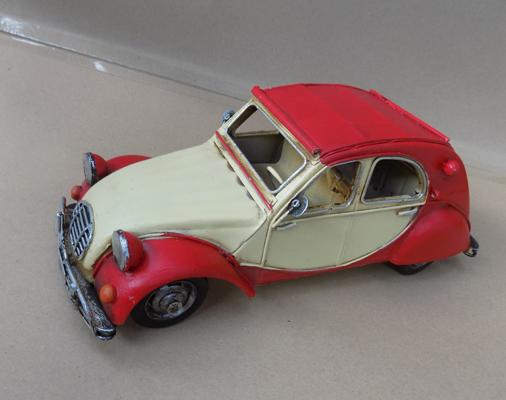 Tin plate Citroen CV, 28cm long